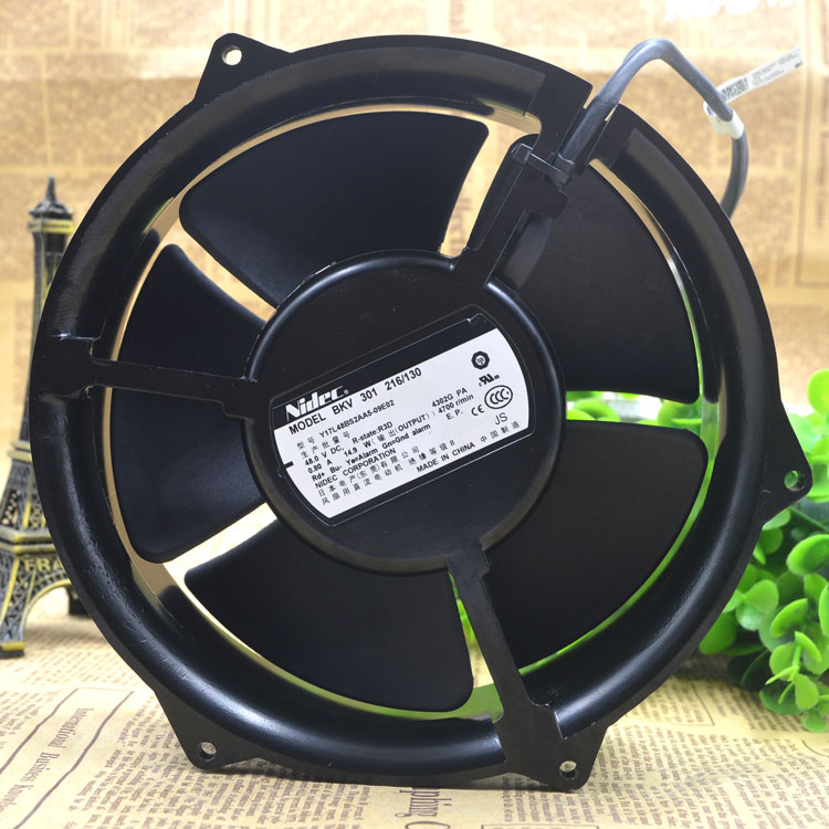 NIDEC Y17L48BS2AA5-09E02 BKV 301 216-130 DC48V 0.80A 4-wires cooling fan