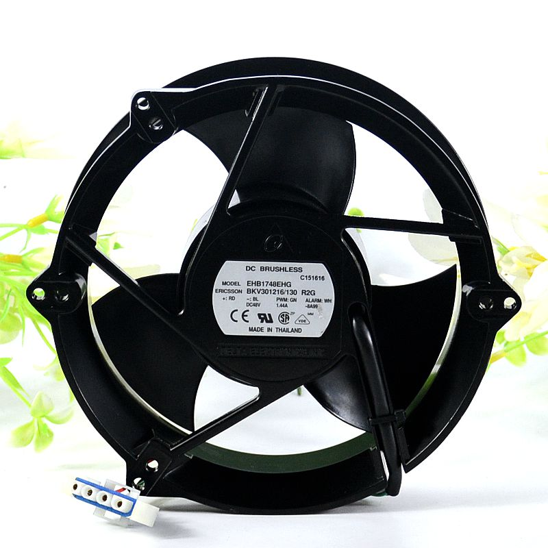 Delta EHB1748EHG BKV301216/130 48V 1.44A  4-Wire metal Cooling Fan