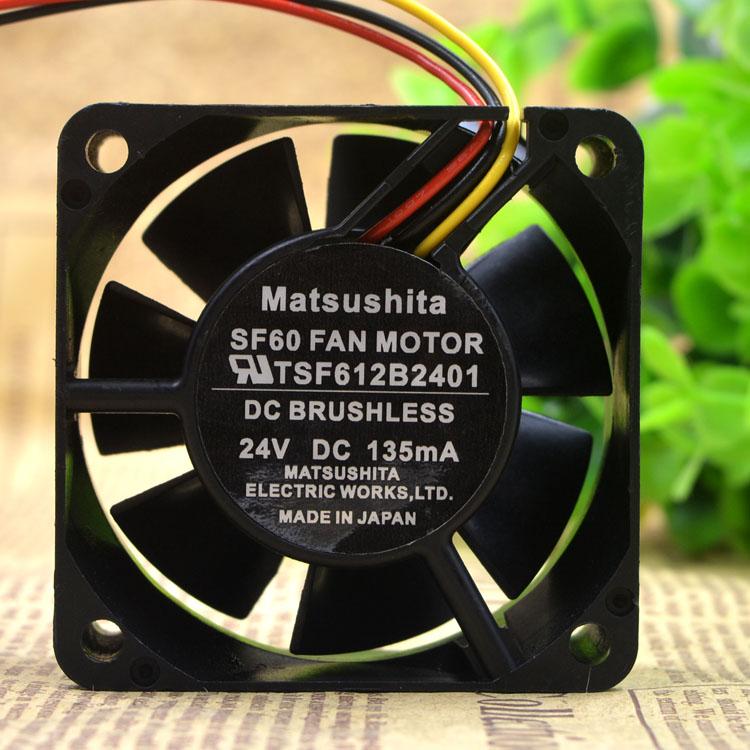 Matsushita TSF612B2401 DC24V 90mA 3-wire cooling fan