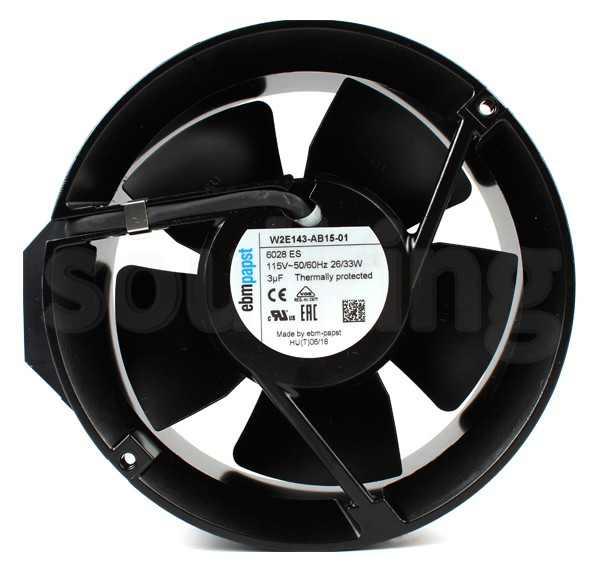 EBM W2E143-AB15-01 115VAC 50/60Hz 26/33W Axial Fan