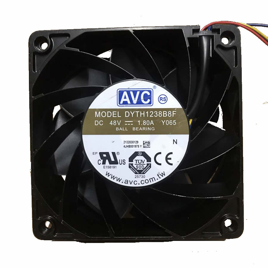 AVC DYTH1238B8F DC48V 1.80A Y082 120*120*38MM  4-wire server industrial cooling fan