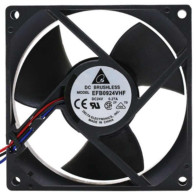 DELTA EFB0924VHF R00 9CM 24V 0.27A 3-lines cooling fan