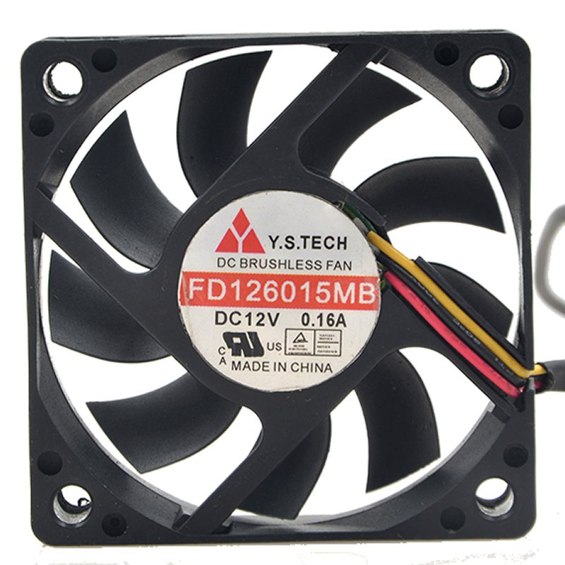 Y.S.TECH FD126015MB 12V double ball ultra-quiet fan
