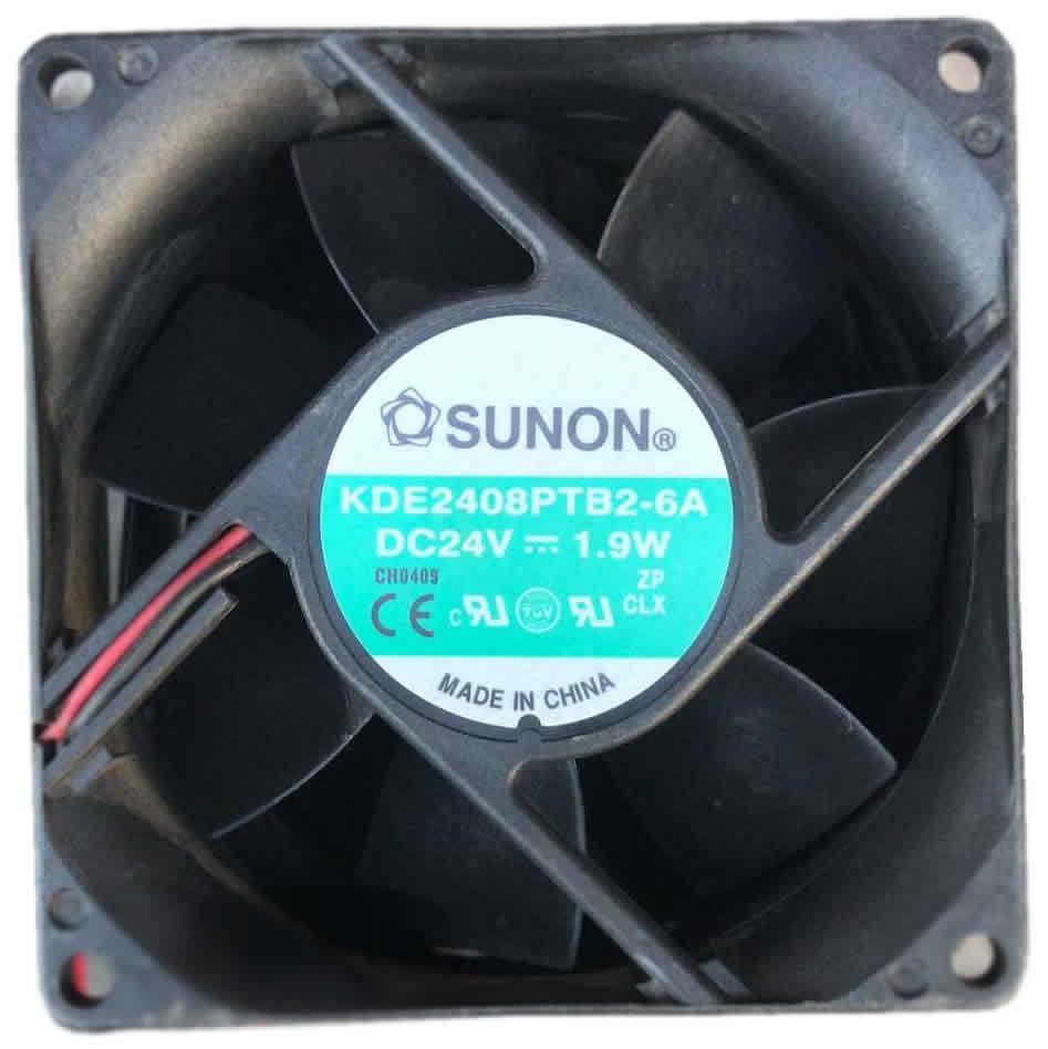 SUNON KDE2408PTB2-6A 24V 3.4W 2-lines cooling fan
