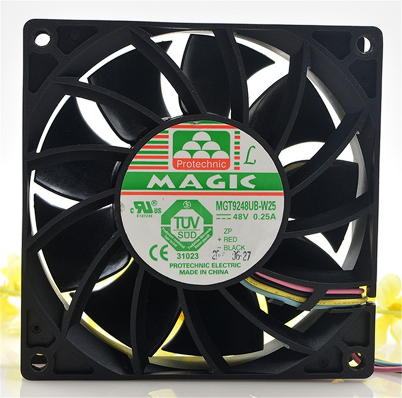 Magic MGT9248UB-W25 48V 0.25A 4-wire pressurized chassis cooling fan
