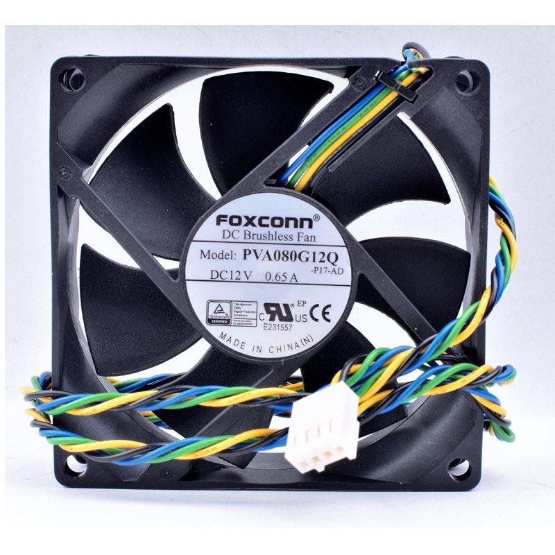 Foxconn PVA080G12Q P01-AD DC Brushless Fan 12V 0.65A  100mm 80x80x25mm Server Square Cooling Fan
