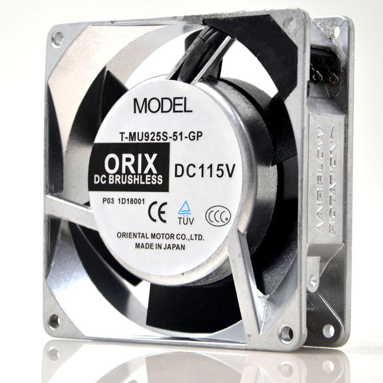 ORIX T-MU925S-51-GP DC115V 10W cooling fan