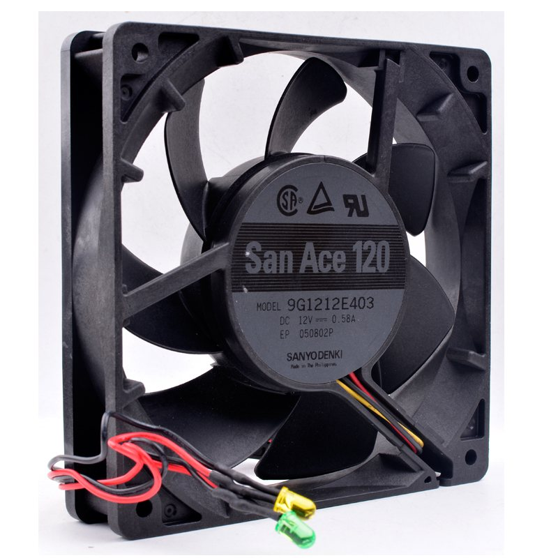 Sanyo 9G1212E403 DC12V 0.58A server chassis cooling fan