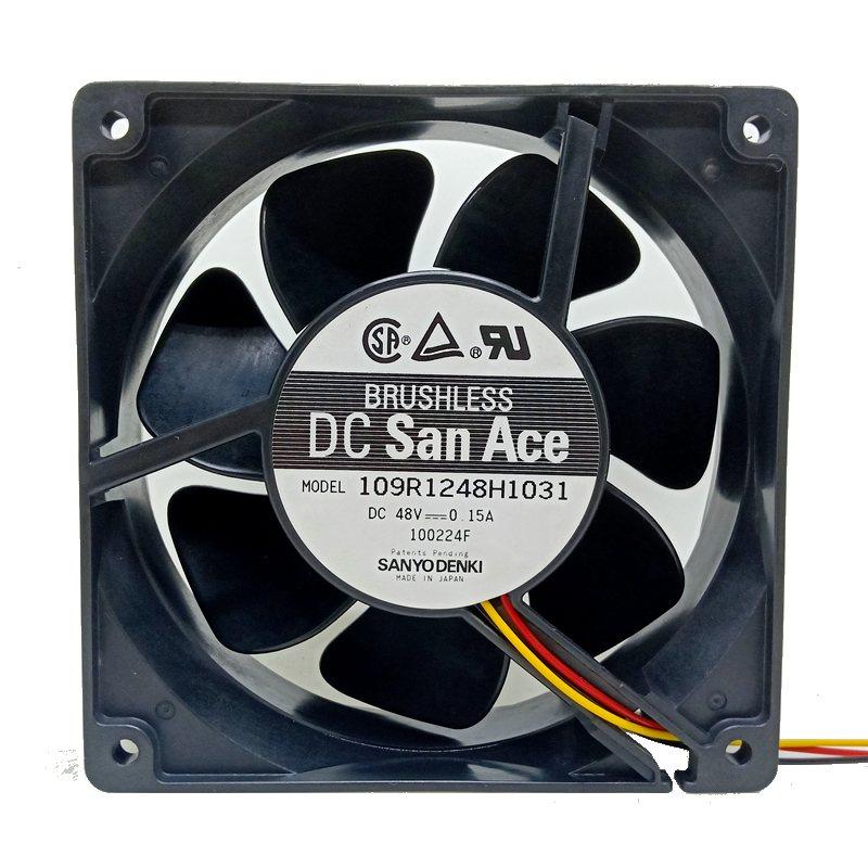 Sanyo 109R1248H1031 DC48V 0.15A 12cm cooling fan
