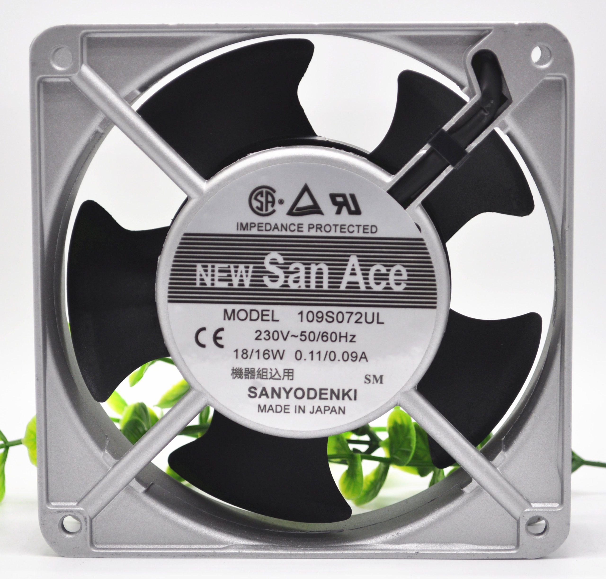 sanyo 109S072UL AC230V 18/16W 0.11A/0.09A 12CM Cooling Fan