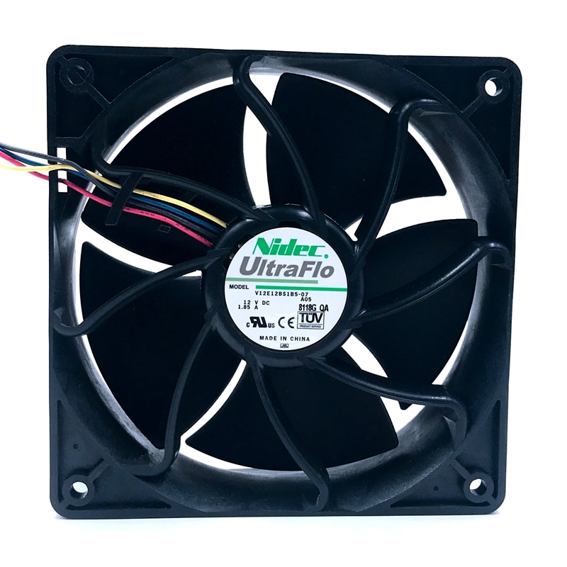 Nidec V12E12BS1B5-07 12V 1.85A 4-wire temperature control cooling fan