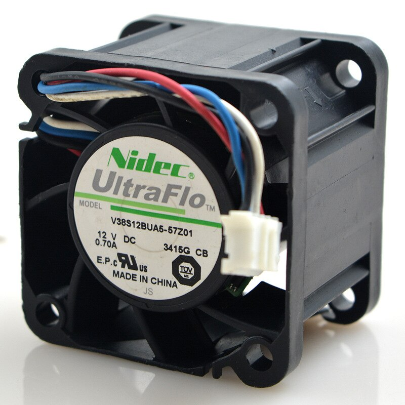 Nidec W40S12BUA5-15 DC12V 0.55A 4-pin PWM axial flow cooling fan