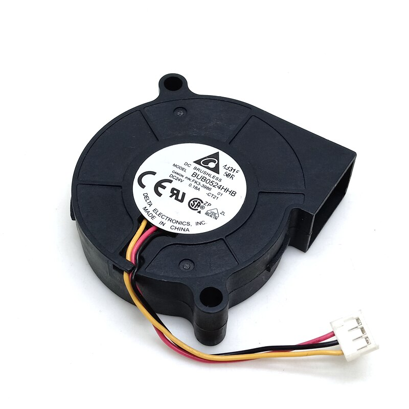 Delta BUB0524HHB 24V 0.18A 3-line 3D printer blower Turbine cooling fan