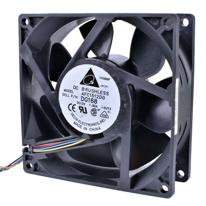Delta AFC1512DG DG168 12V 1.80A 15CM double ball bearing cooling fan