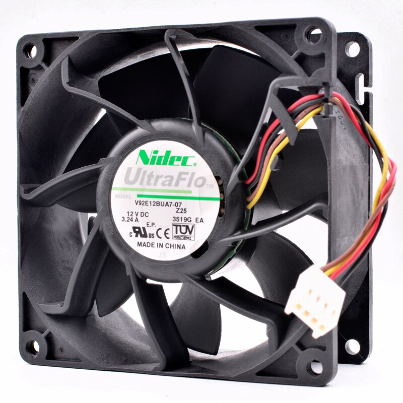 Nidec V92E12BUA7-07 DC 12V 3.24A large air cooling fan