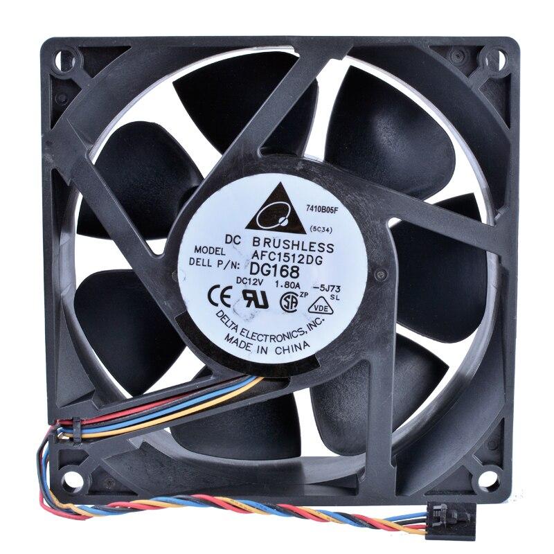Delta AFC1512DG DG168 12V 1.80A 15CM double ball bearing cooling fan