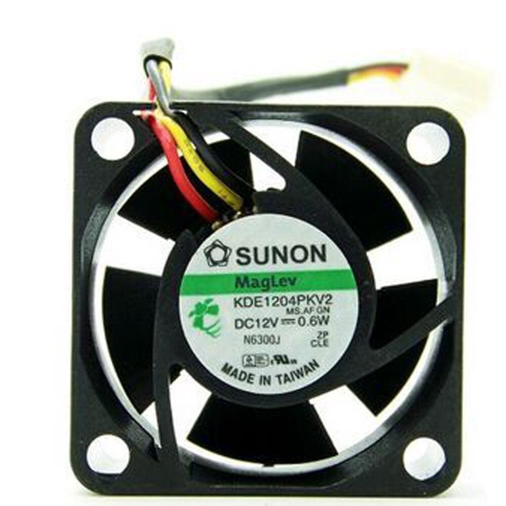 SUNON KDE1204PKV2 DC12V 0.6W 3-wires Mute cooling fan