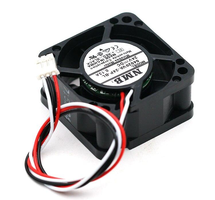 NMB 04020VA-24P-BL DC24V 0.13A 4cm server cooling fan