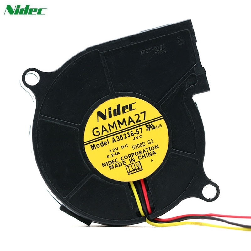 Nidec A35236-57 DC12V 0.24A 3-wire brushless blower fan