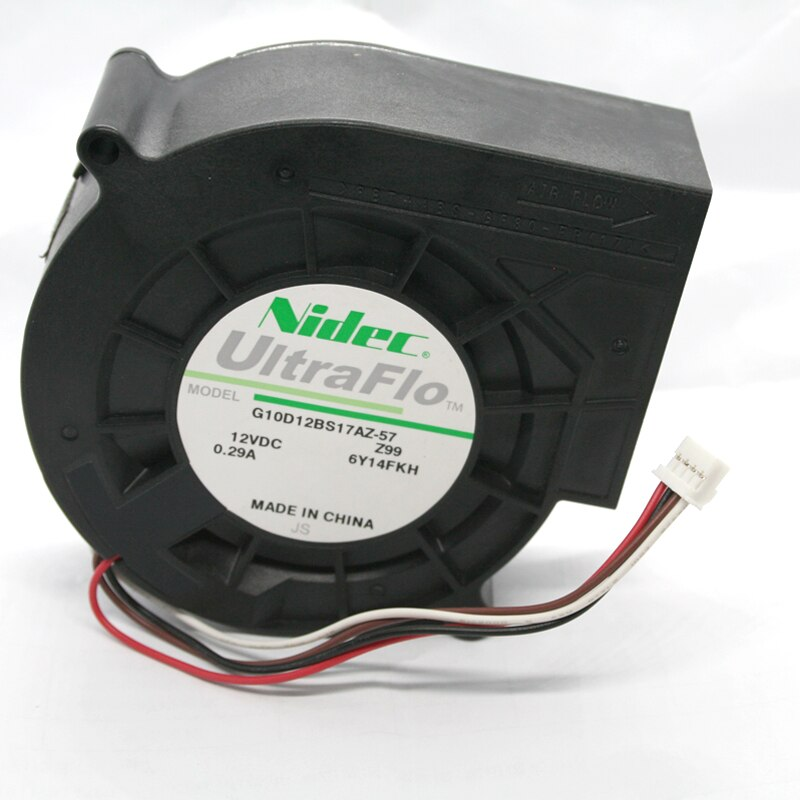 NIDEC G10D12BS17AZ-57 DC12V 0.29A 9733 4-wire PWM Turbo Cooling Fan