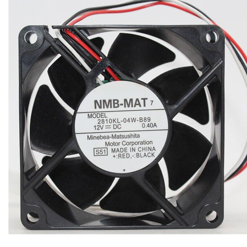 NMB 2810KL-04W-B89 DC12V 0.40A large air cooling fan