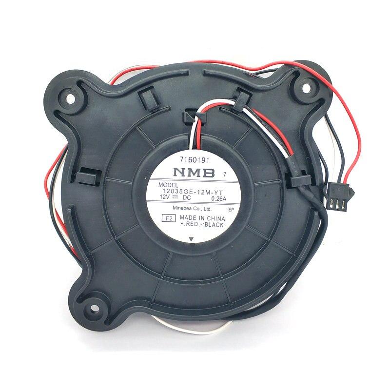 NMB 12035GE-12M-YT DC12V 0.26A 3Lines Refrigerator cooling fan