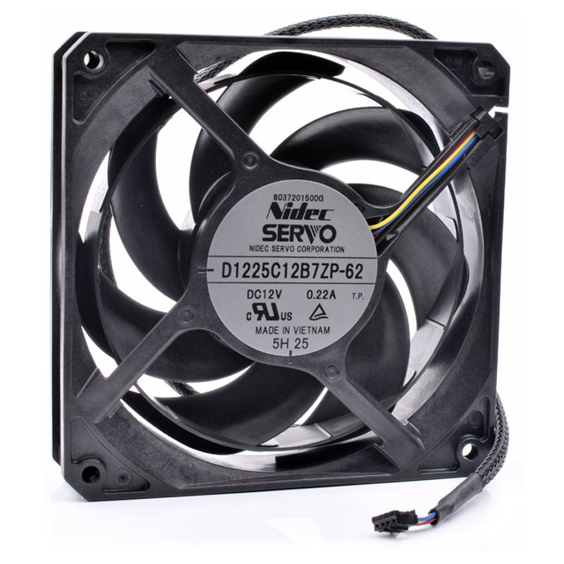 Nidec D1225C12B7ZP-62 DC12V 0.22A Asus graphics card water-cooled radiator fan