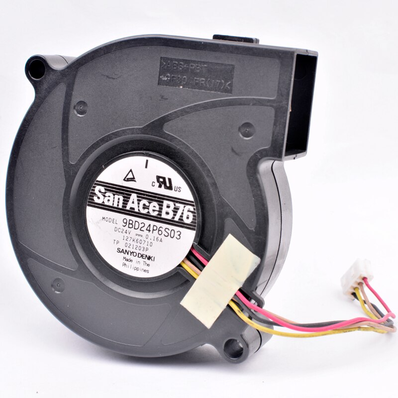 Sanyo 9BD24P6S03 DC24V 0.16A 4-wires pwm blower  inverter fan