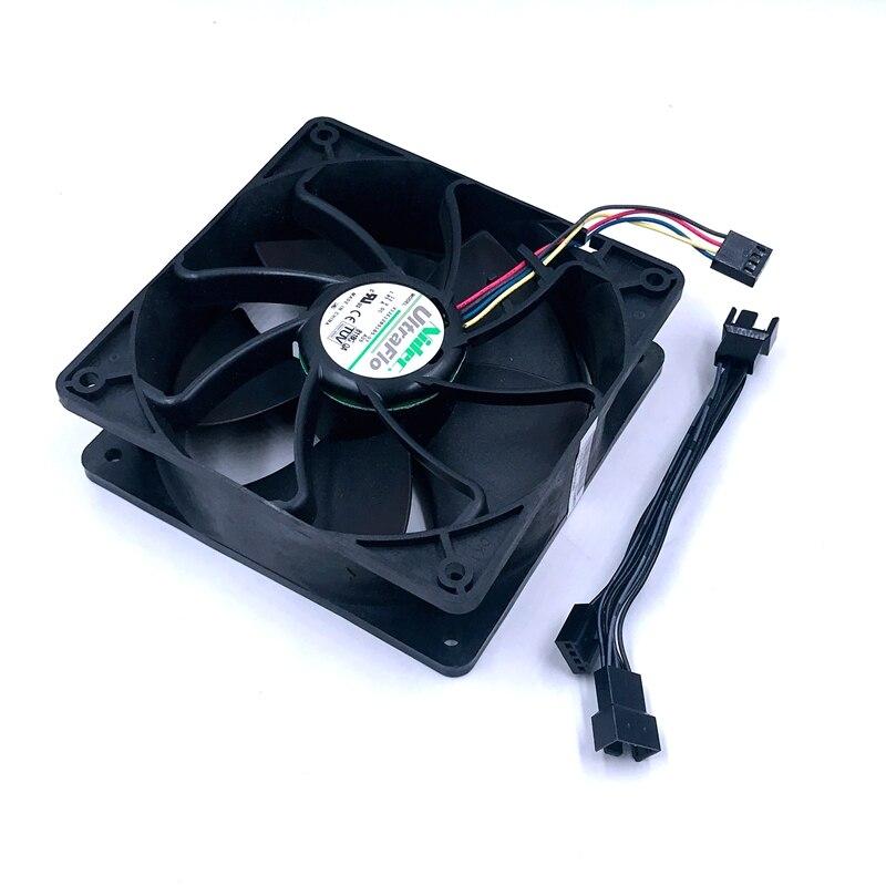 Nidec V12E12BS1B5-07 12V 1.85A 4-wire temperature control cooling fan
