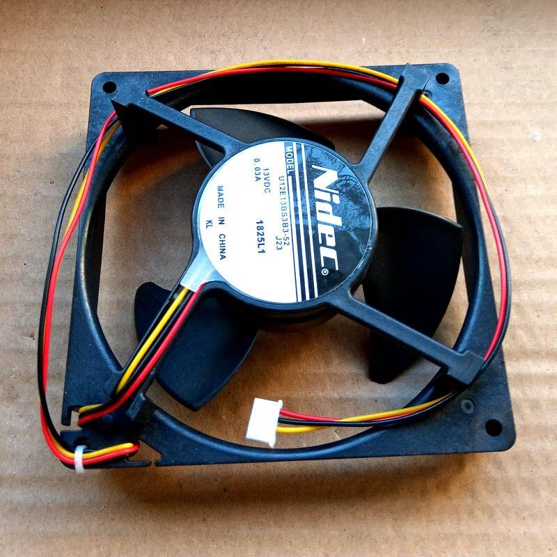 Nidec U12E13BS3B3-52 J23 DC13V 0.03A 13CM Refrigerator waterproof cooling fan