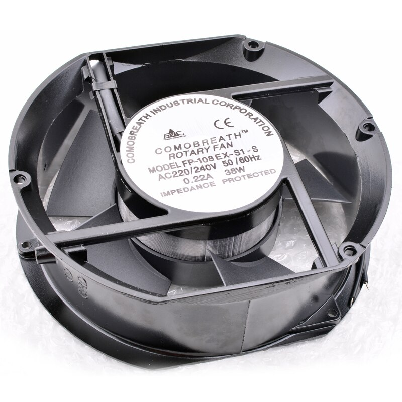 FP-108EX-S1-S 220V 38W 0.22A Dual Bearing Axial Cooling Fan