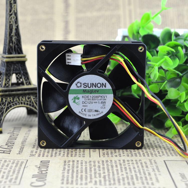 Sunon KDE1208PKV3 13.MS.AF.GN 12V 0.8W 8CM cooling fan