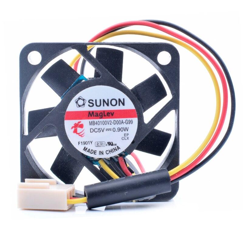 SUNON MB40100V2-D00A-G99 DC5V 0.90W  cooling fan