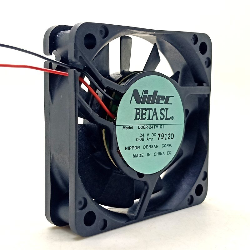 Nidec D06R-24TM DC24V 0.08A 2-wires Industrial Inverter cooling fan