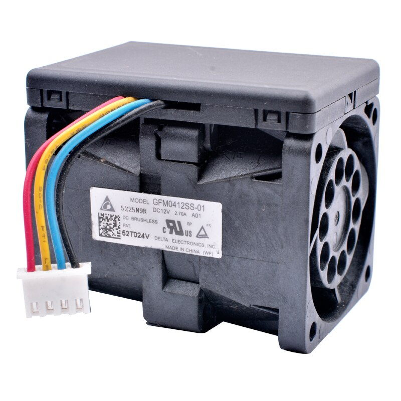 Delta GFM0412SS-01 5225N9R  DC12V 2.70A Server Cooling Fan