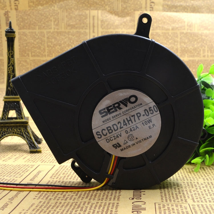 SERVO SCBD24H7P-050 DC24V 10W 3-wire cooling fan