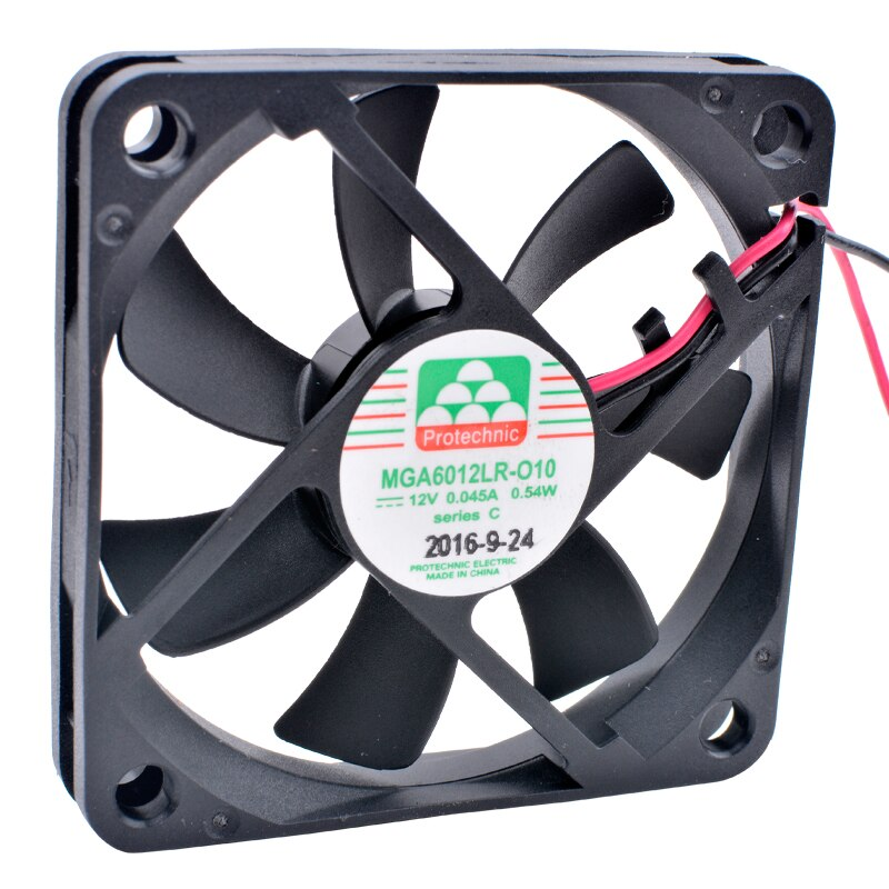 MGA6012LR-O10 DC 12V 0.54W 0.045A Ultra Quiet Slim Power Cooling Fan
