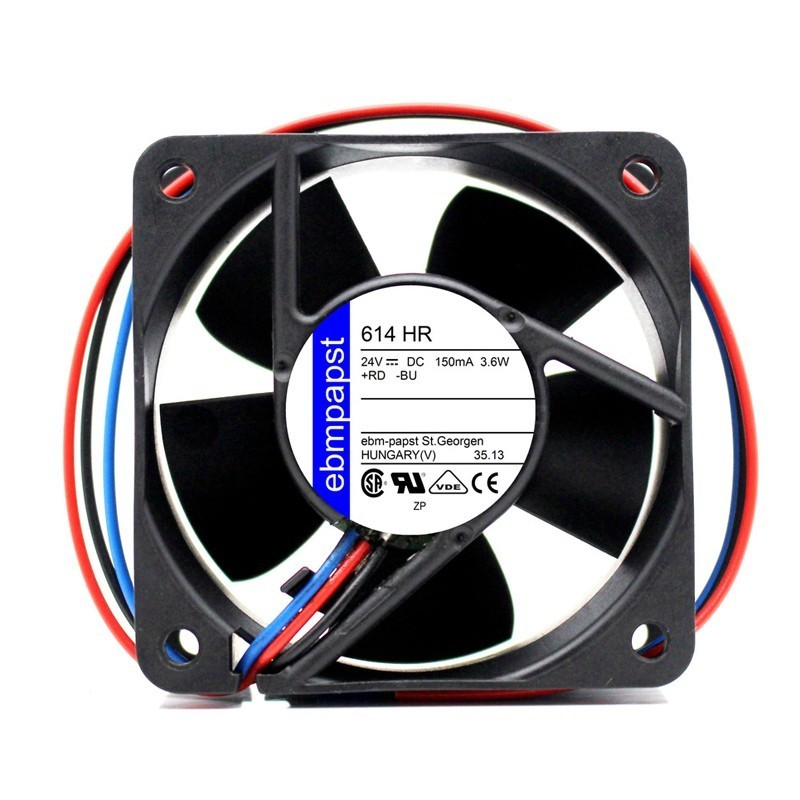 Ebmpapst 614 HR DC24V 3.6W 3Lines 6cm Server cooling Fan