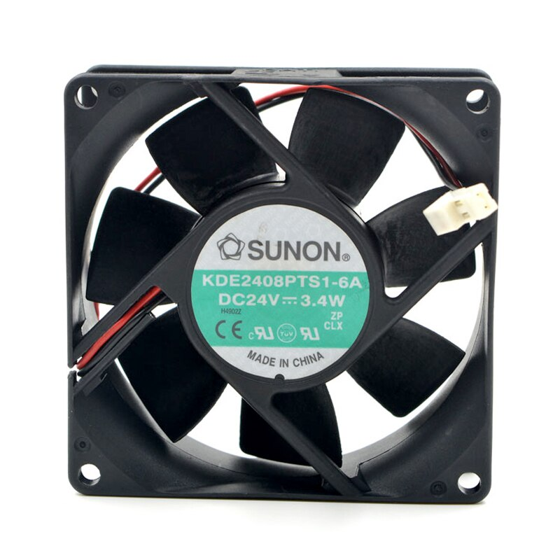 SUNON KDE2408PTB1-6A DC24V 3.4W 2-wire inverter cooling fan