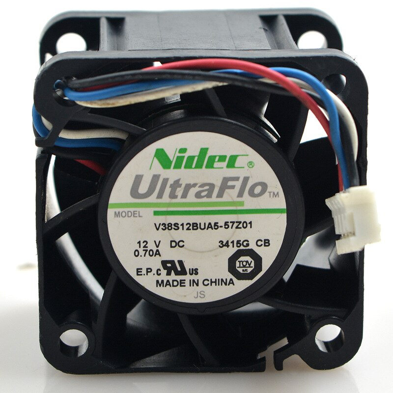 Nidec W40S12BUA5-15 DC12V 0.55A 4-pin PWM axial flow cooling fan