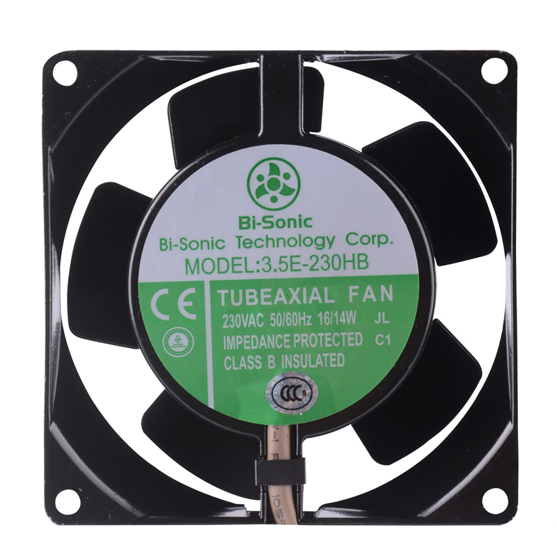 Bi-Sonic 3.5E-230HB AC230V 15/12W  2-Wires Axial Cooling Fan