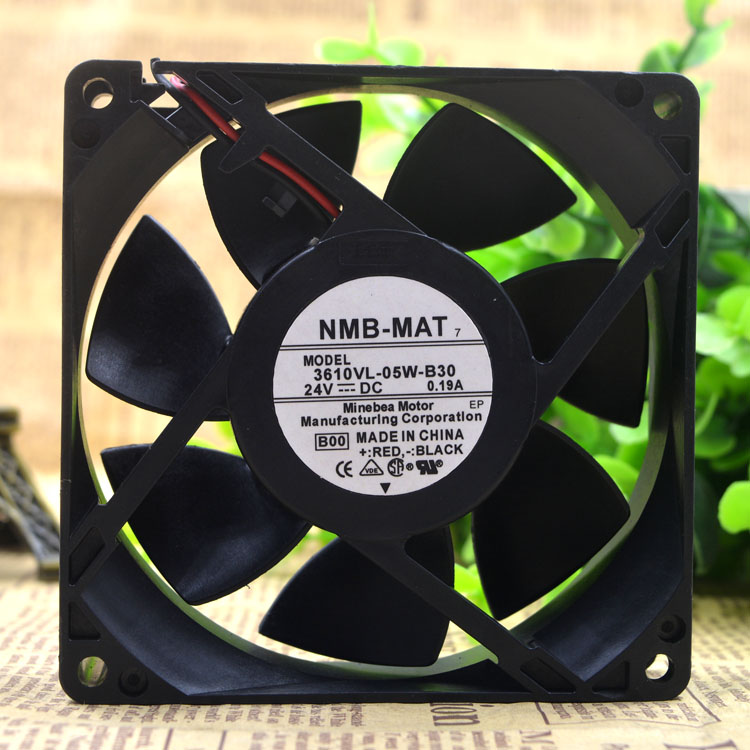 NMB-MAT 3610VL-05W-B30 DC24V 0.19A Axial Ball Bearing cooling fan