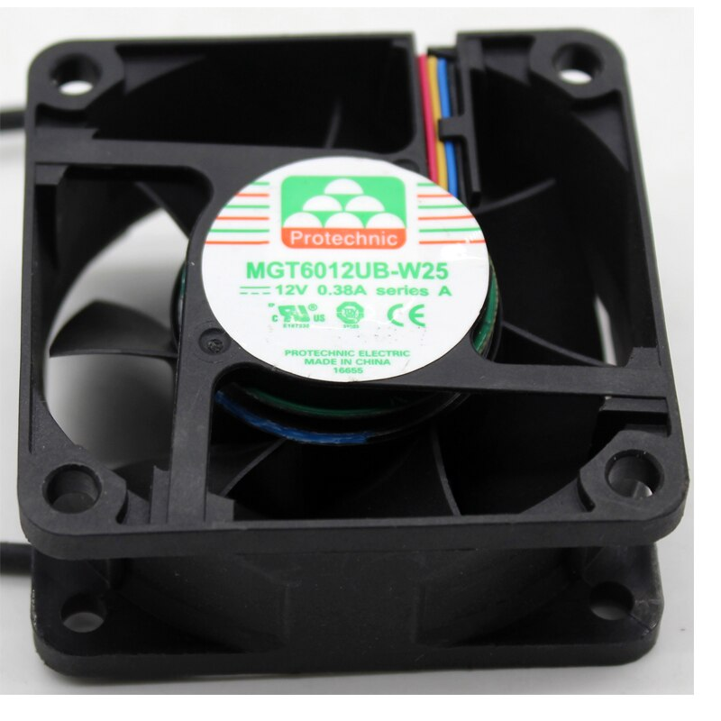 MGT6012UB-W25 6cm DC12V 0.38A 4-lines chassis server cooling fan