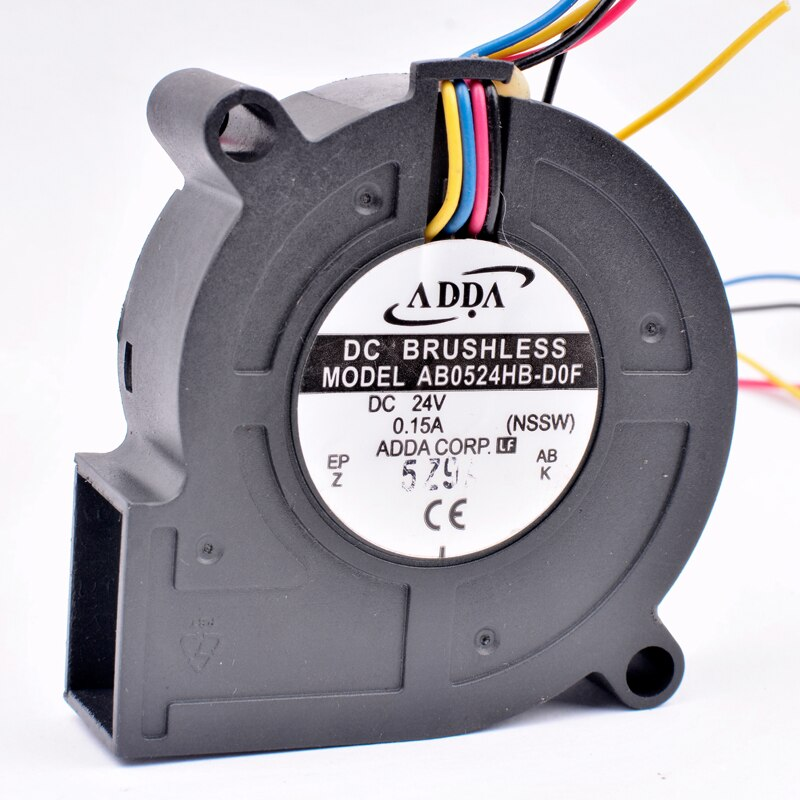 ADDA AB0524HB-D0F DC24V 0.15A 4-wires pwm blower inverter fan
