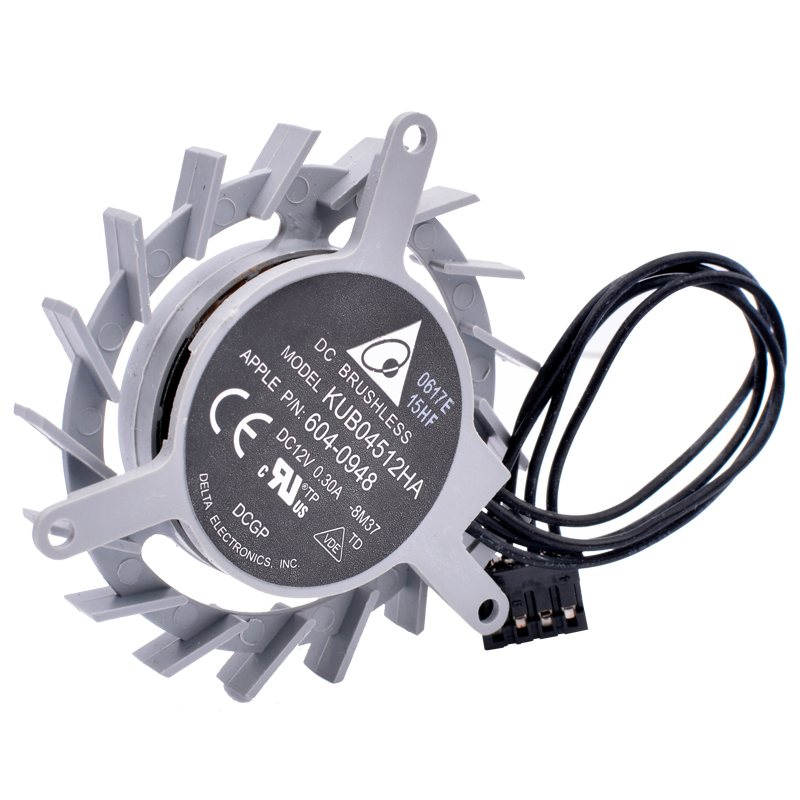 KUB04512HA APPLE PIN: 604-0948 DC12V 0.30A delta cooling fan