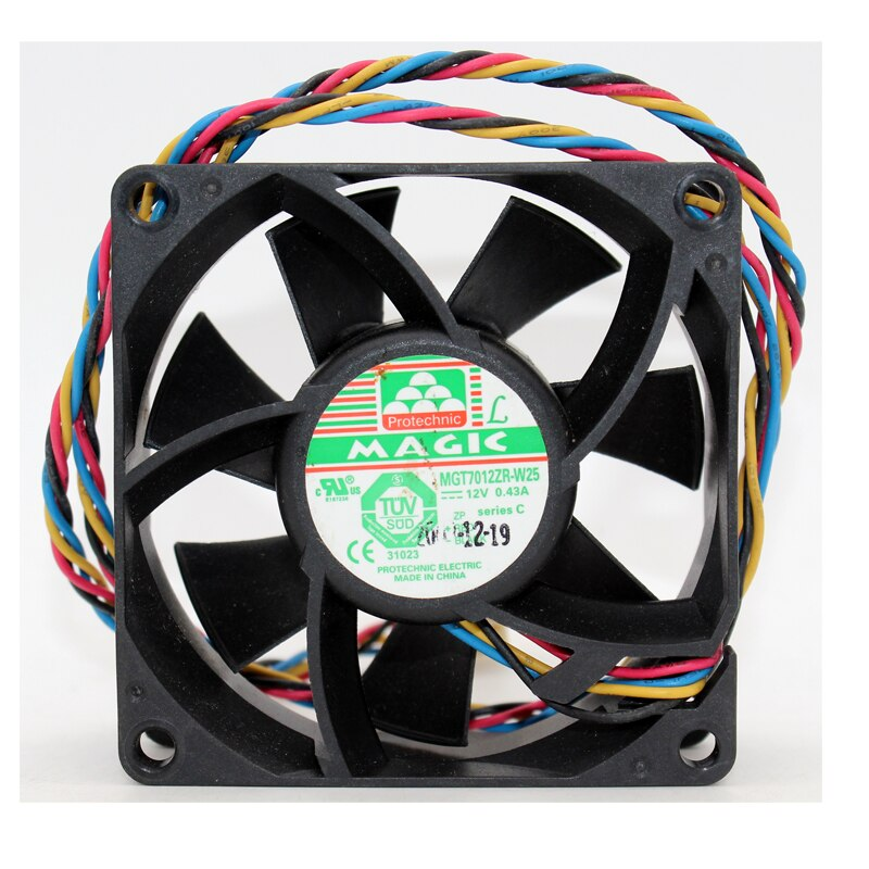 MAGIC MGT7012ZR-W25 DC12V 0.43A pwm chassis cooling fan