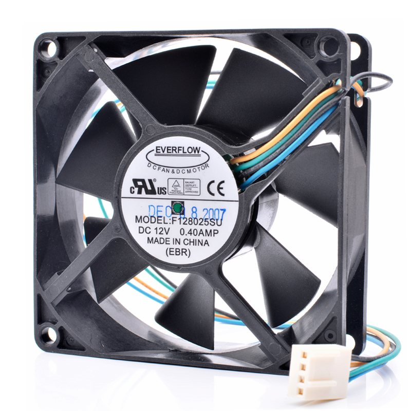 Everflow F128025SU 12V 0.40A 4 lines pwm cooling fan