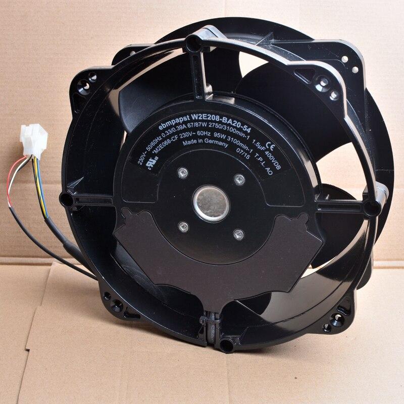 Ebm W2E208-BA20-54 220V 230V industrial cabinet AC metal cooling fan