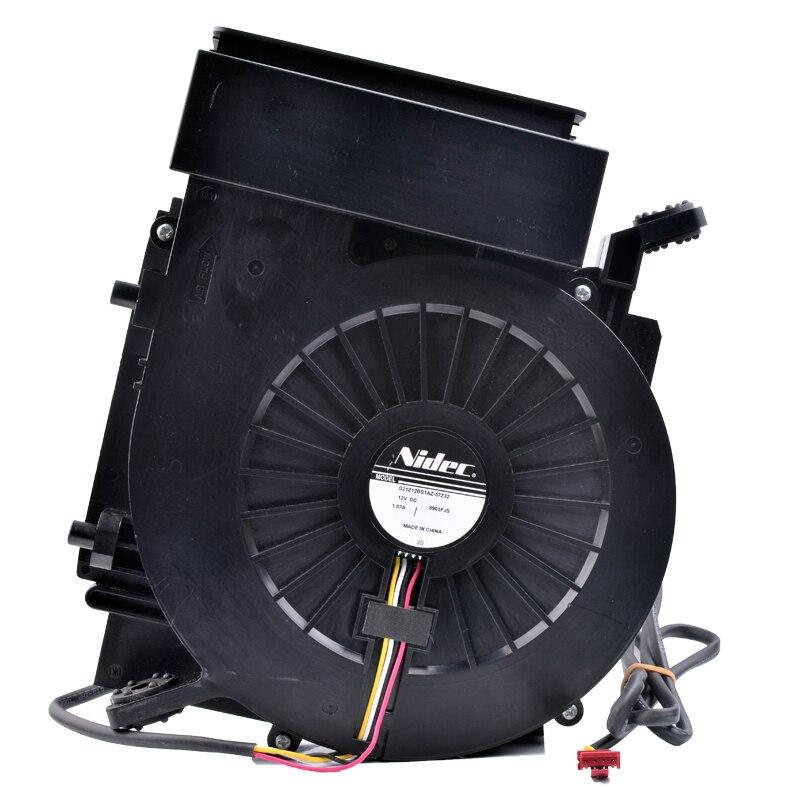 Nidec G21Z12BS1AZ-57232 12V  1.87A refrigerator air conditioner built-in car seat cushion cooling fan