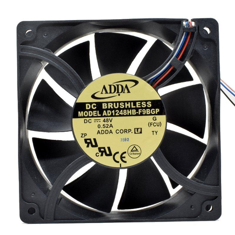 ADDA AD1248HB-F9BGP DC48V 0.52A 4-wire 12CM cooling fan